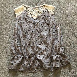 Anthropologie Tops - Anthropologie sheer silk blouse